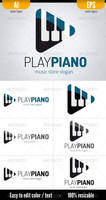 Play Piano - Logo Template by doghead