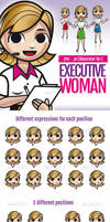 Executive Woman - Vector Resource by doghead