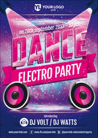 Dance Electro Party - Flyer Template by doghead