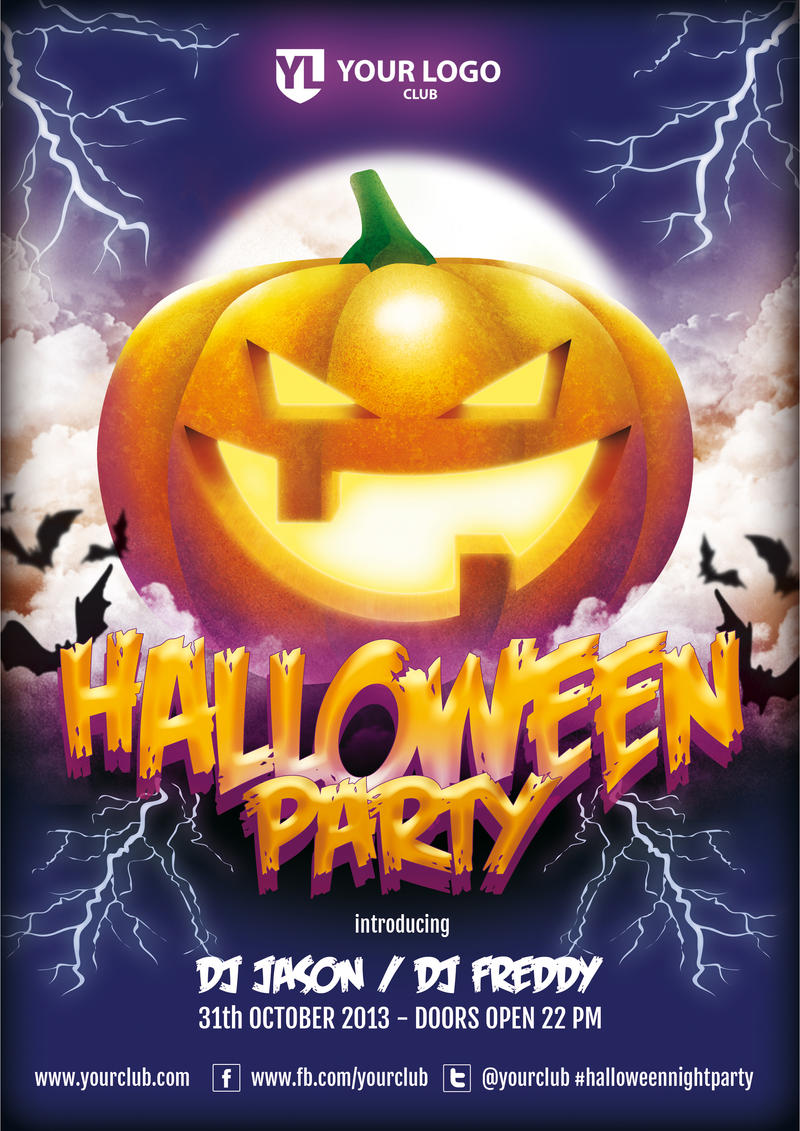 Halloween Party - Flyer Template by doghead on DeviantArt