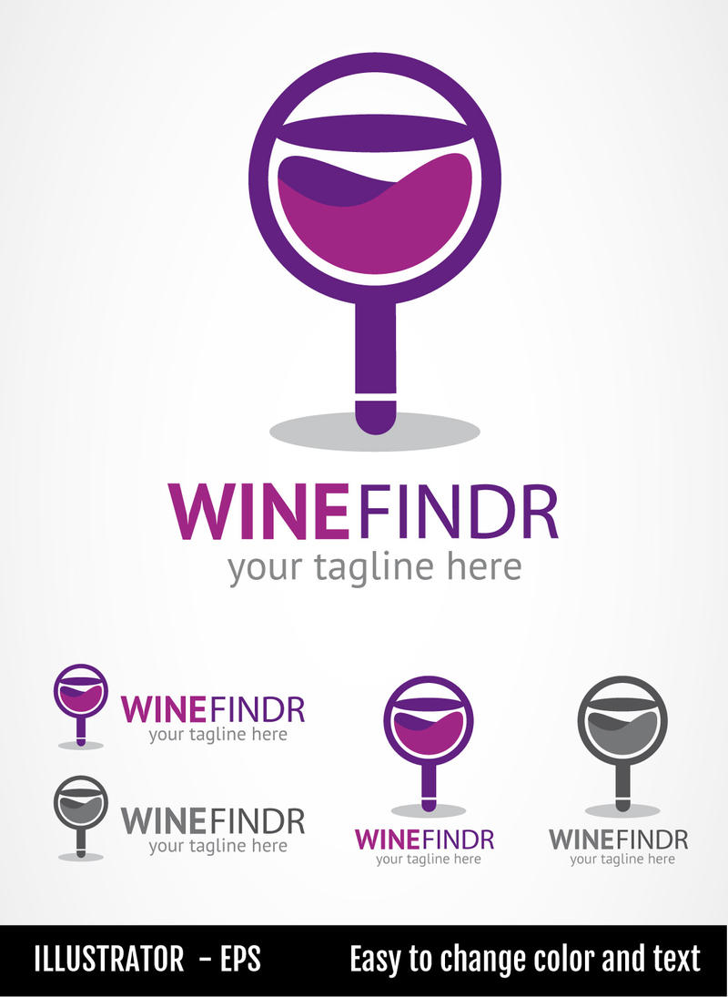 Wine Findr - Logo Template