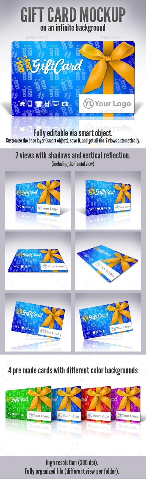 GiftCard Mock-up by doghead