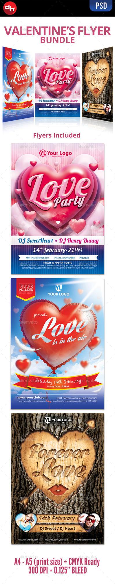 Valentine's Flyer Bundle by doghead