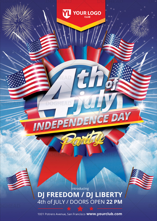4th of July Independence Day Flyer by doghead