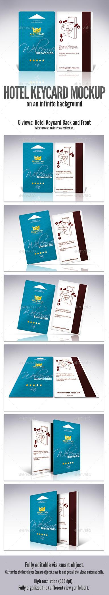 Hotel Key Card Mockup by doghead