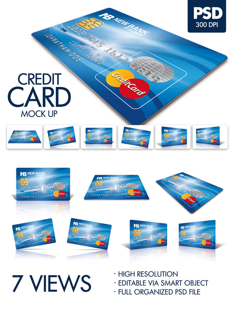 Plastic Card mockup by doghead