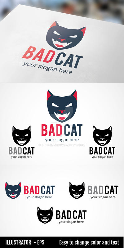 BAD CAT - Logo Template by doghead