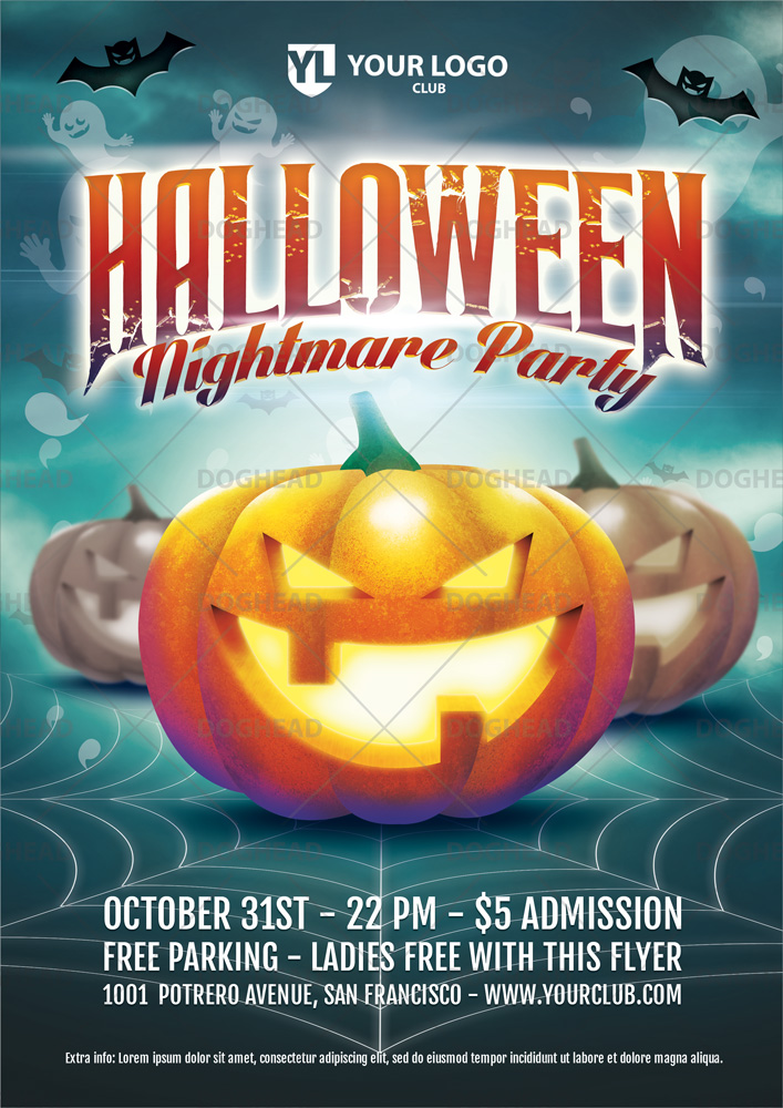 Halloween Nightmare Party - Flyer template by doghead