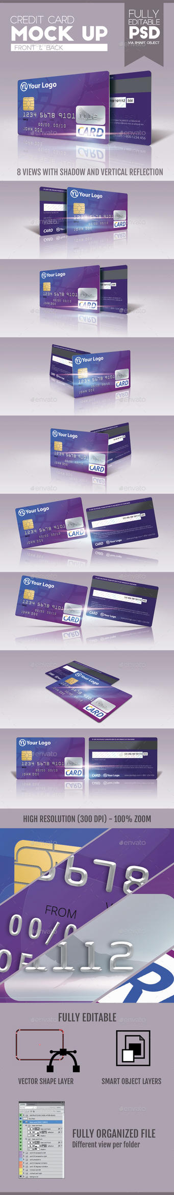 Credit Card Mock Up v2 by doghead