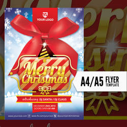 Merry Christmas Flyer Template by doghead