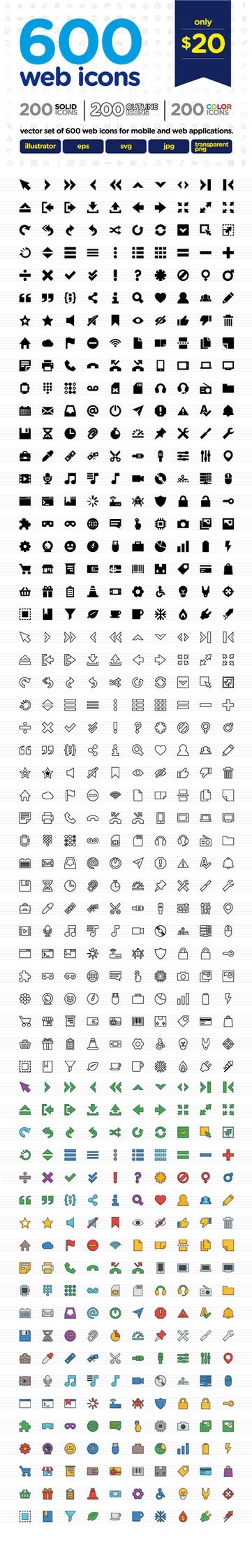 600 icons by doghead