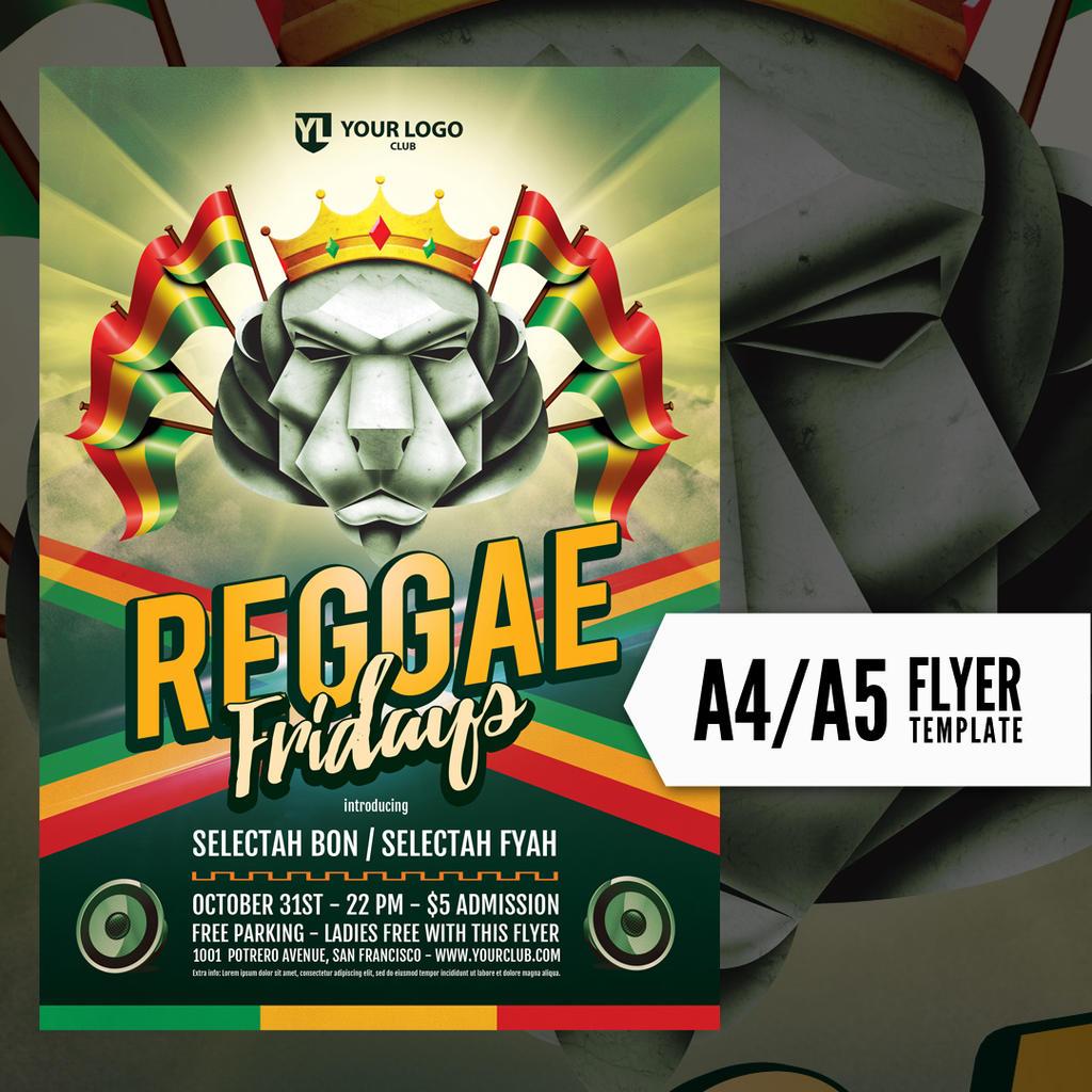 Reggae Fridays - Flyer Template by doghead