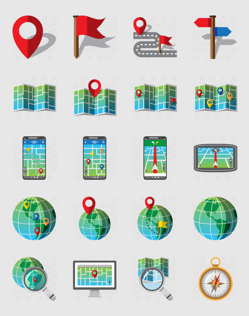 Geolocation iCONS sET by doghead