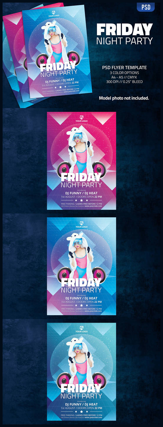Friday Night Party - Flyer Template by doghead