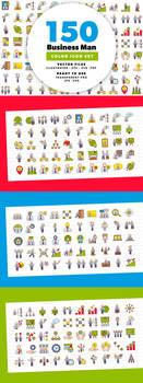150 Businessman Color Icons