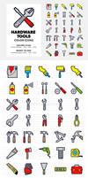 Hardware Tools Icons Set