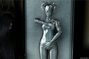 Sasha in carbonite (Star Wars) by db777
