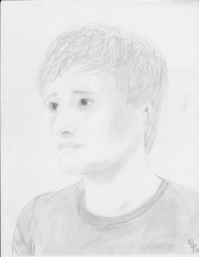 Peeta in Pencil by MyPurpleChicken