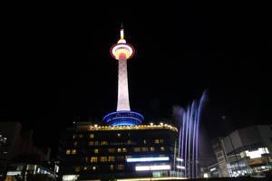 Aqua Fantasy and the Kyoto tower by DianaShadoweye