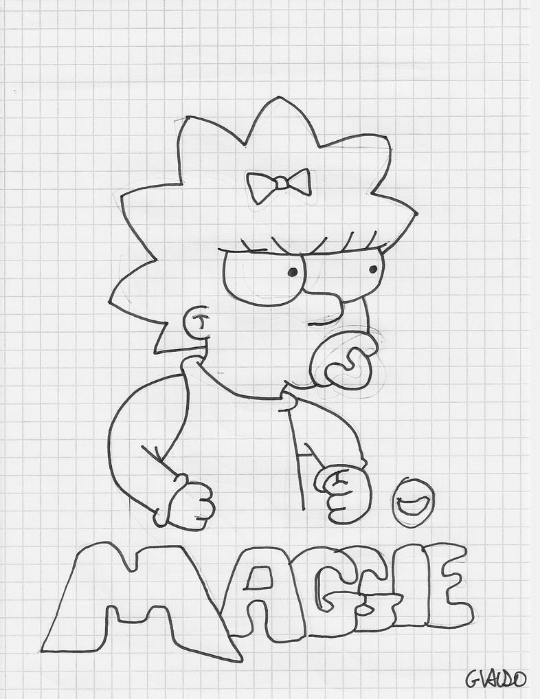 Maggie Simpson Drawings How to Draw Maggie Simpson