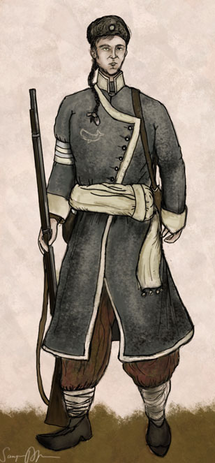 Grey Banner Line Infantry by taivaansusi
