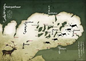 Fantasy map of Nairgadhaar