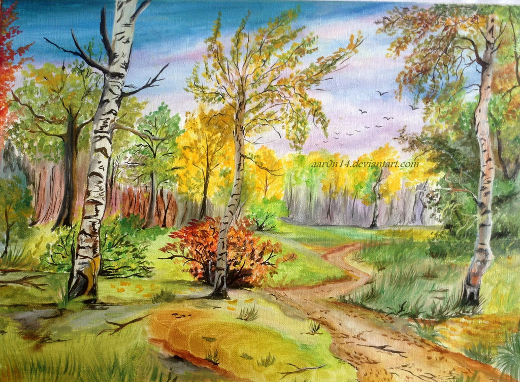 Landscape Canvas painting by Aar0n14