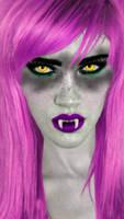 Neon Purple Vampire by vamp1967