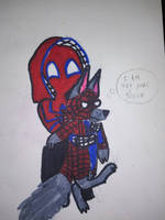 red web loves dogs!!!! by toywolf22