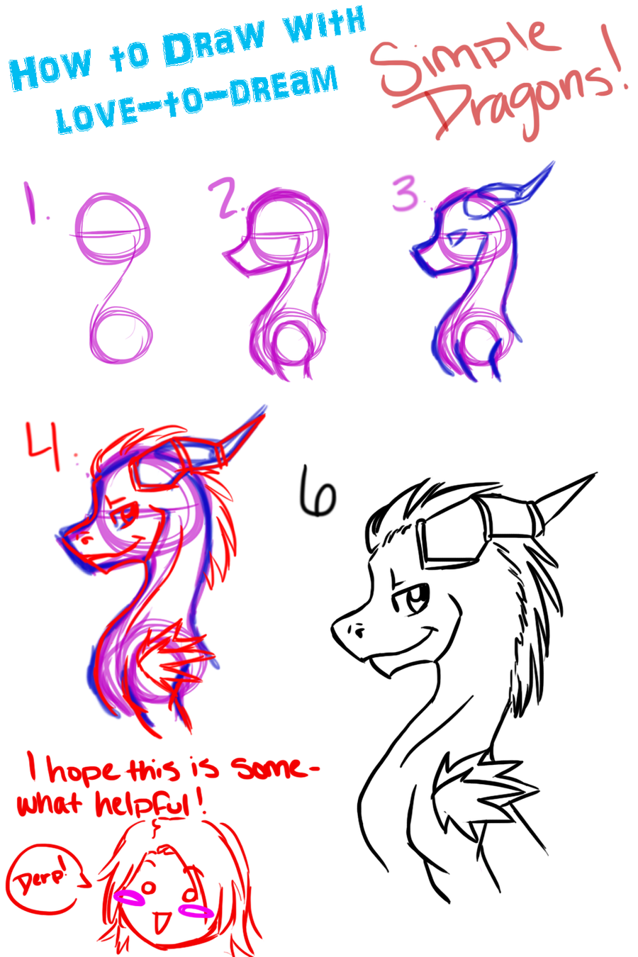 Simple Dragon Drawing: Simple Dragons By Babybluedreams On DeviantArt