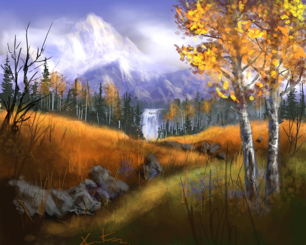Autumn Mountain by kmgenius