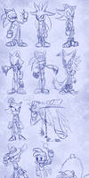 Sonic Character Doodles