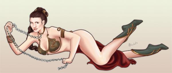 Slave Leia by gallyko