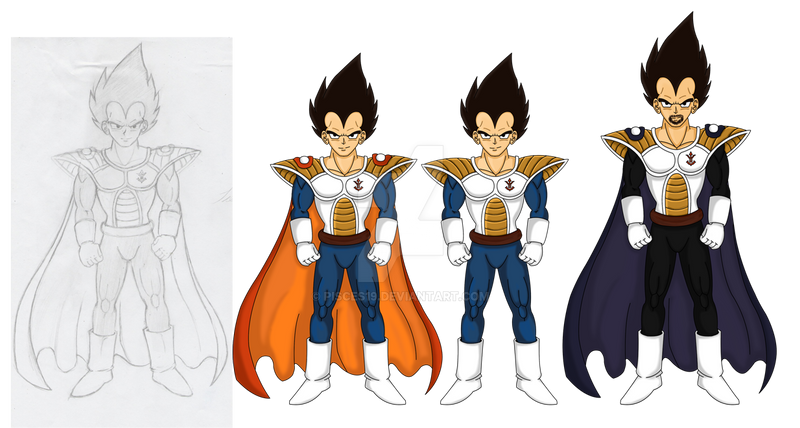 Vegeta and King Vegeta by Pisces19 on DeviantArt