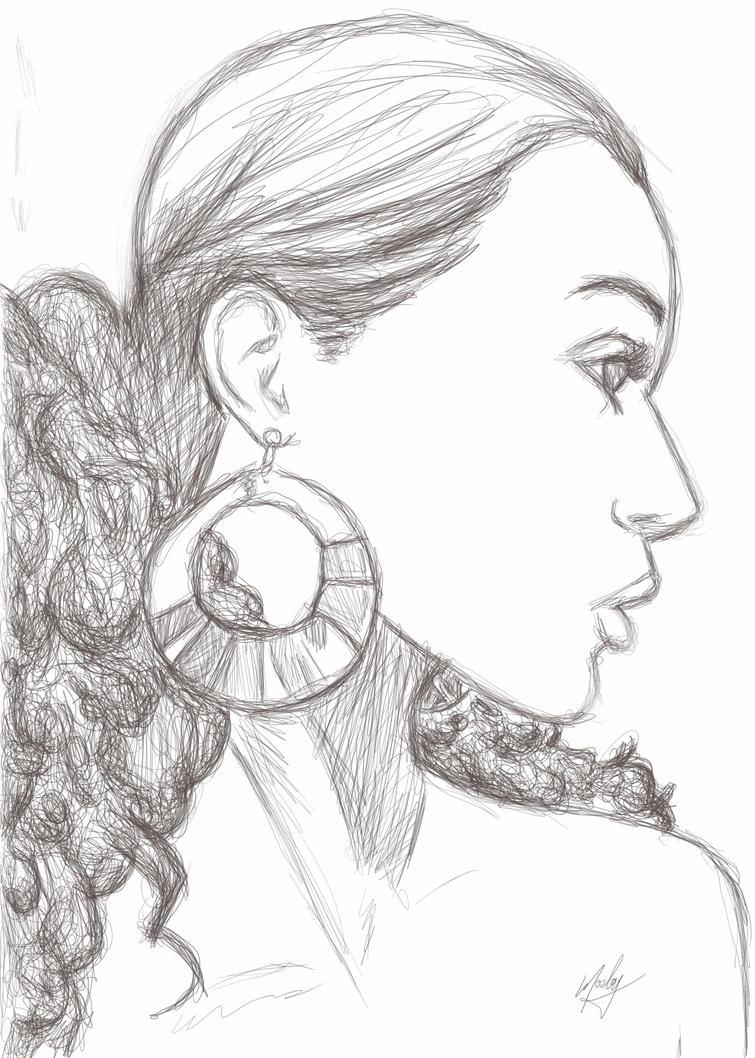 Black Angel sketch by KRStyle