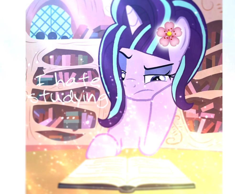 Starlight glimmer hates studying frindship by Ponyfriendsforever44