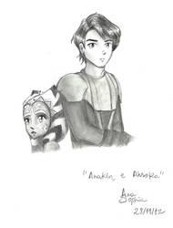 Anakin and Ahsoka by itsorangetree