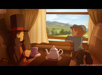 Professor Layton - The train by Katikut