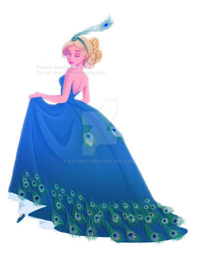 The peacock dress by Katikut