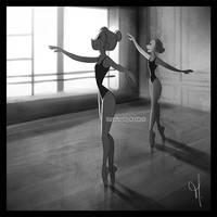 Ballerinas (Lunchtime break drawing)
