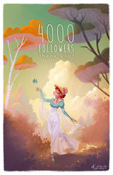 Celebrating my 4000 followers on FB! by Katikut