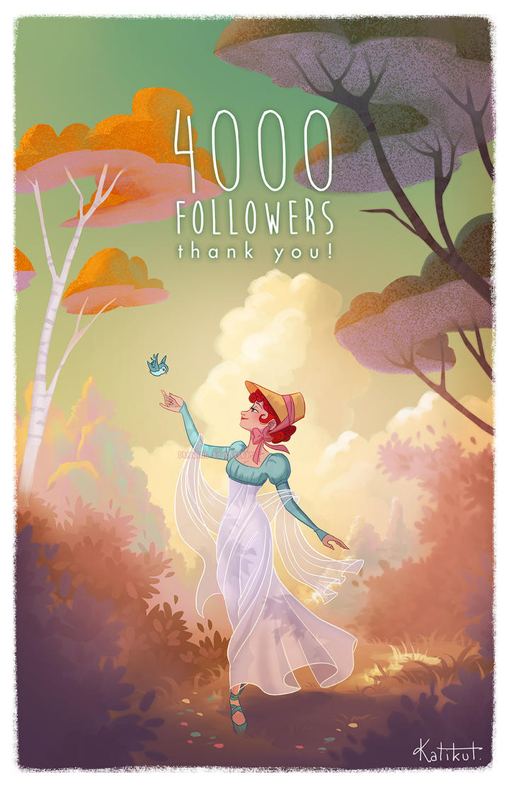 Celebrating my 4000 followers on FB! by Katikut
