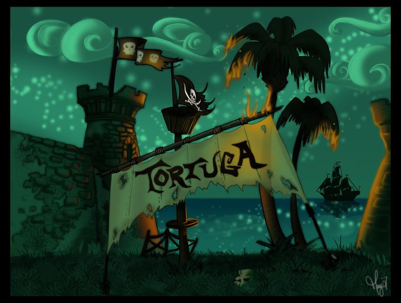 Tortuga by Night by Katikut