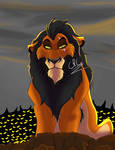 The Hyena King (Speedpaint Included) by Leaf28