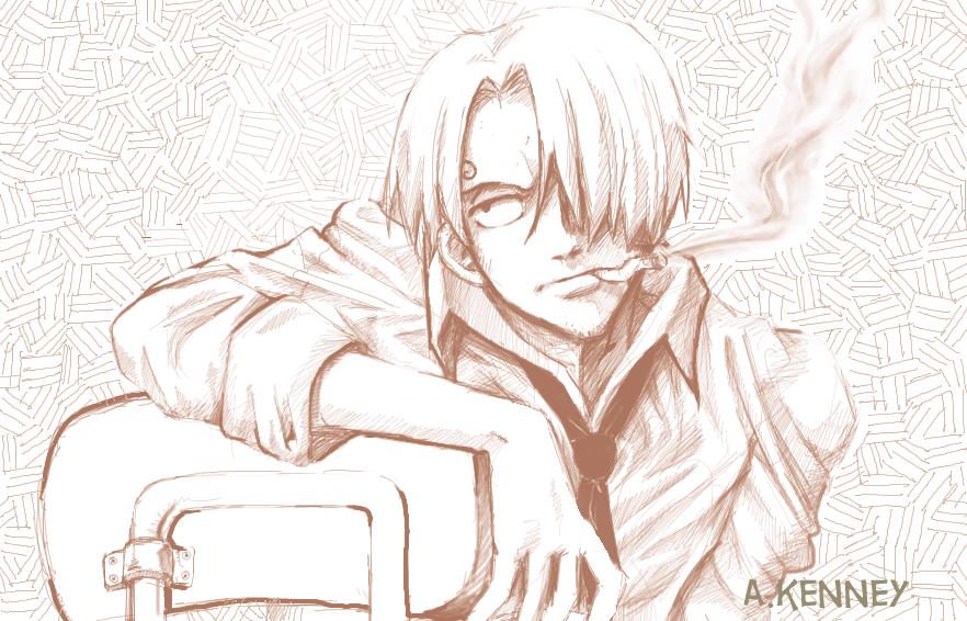 One Piece Sanji Sketch By Aprilpolitano On Deviantart