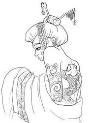 Oriental Lineart by nethingbutordinary