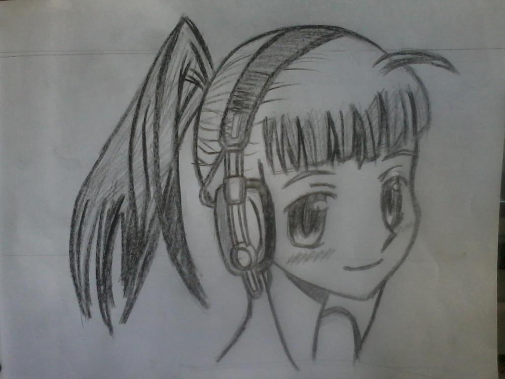 Anime Girl Wearing Headphone By I28ve980dianne7799 On DeviantArt