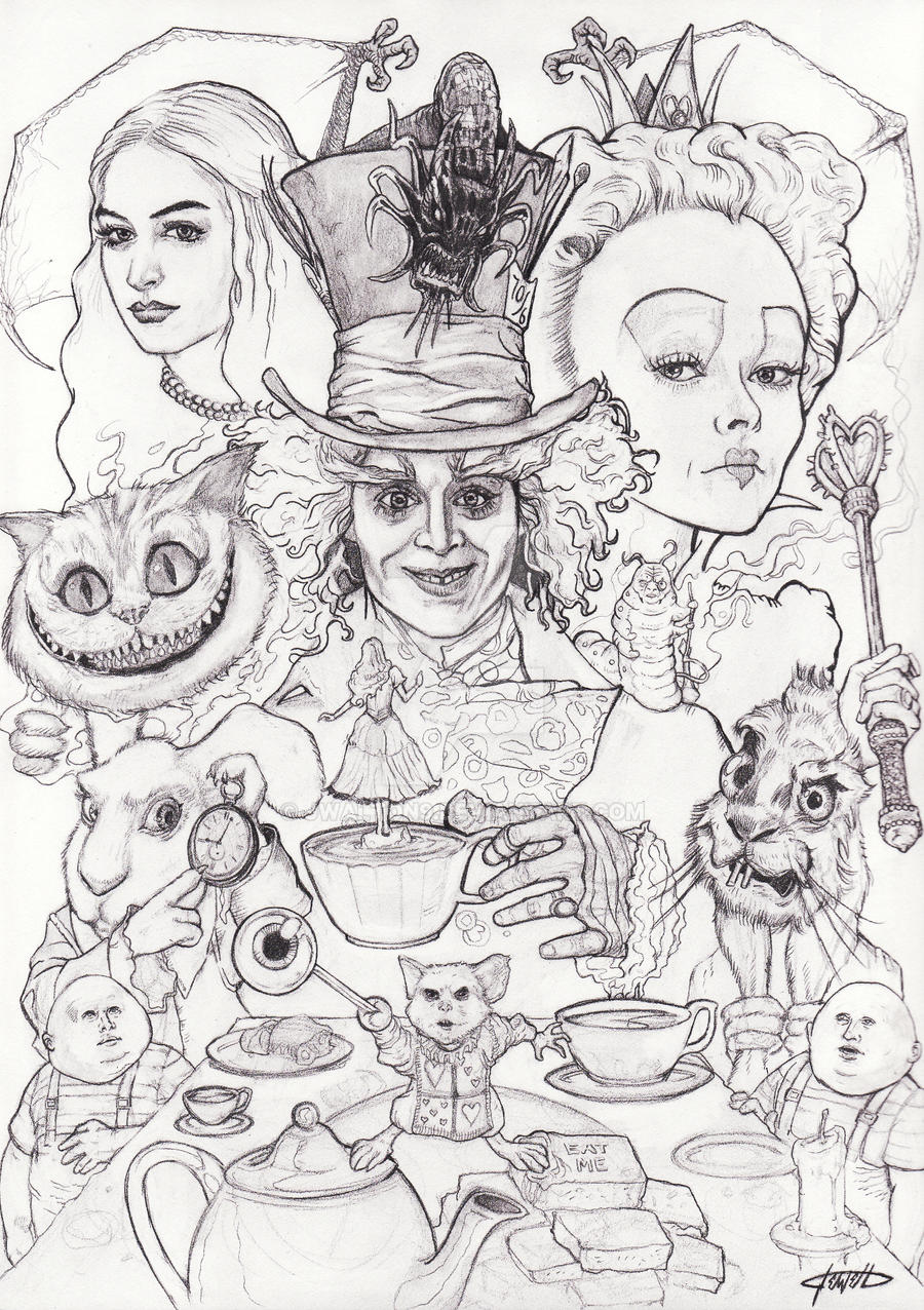 Uncategorized Drawings Of Alice In Wonderland alice in wonderland by jwalton9 on deviantart jwalton9