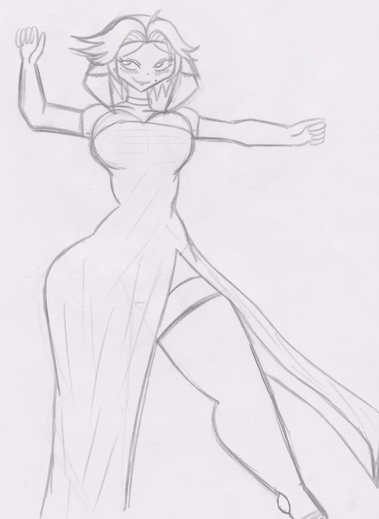 Ranka dressed up and sprawled out by KingDarkCatastrophe