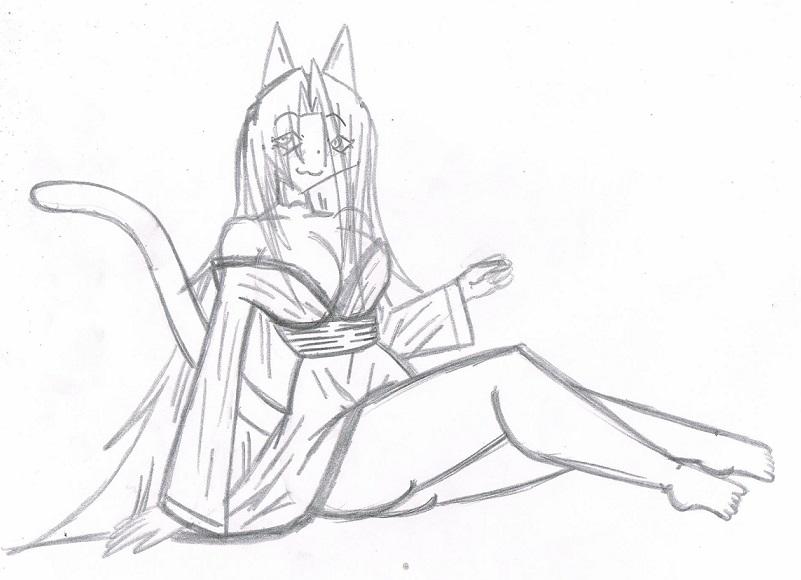 Jackie kimono relax by KingDarkCatastrophe